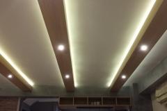 Δοκάρια με φωτισμό οροφής